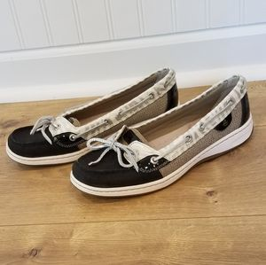 Sperry Top Sider Navy & Gray {size 8.5} EUC